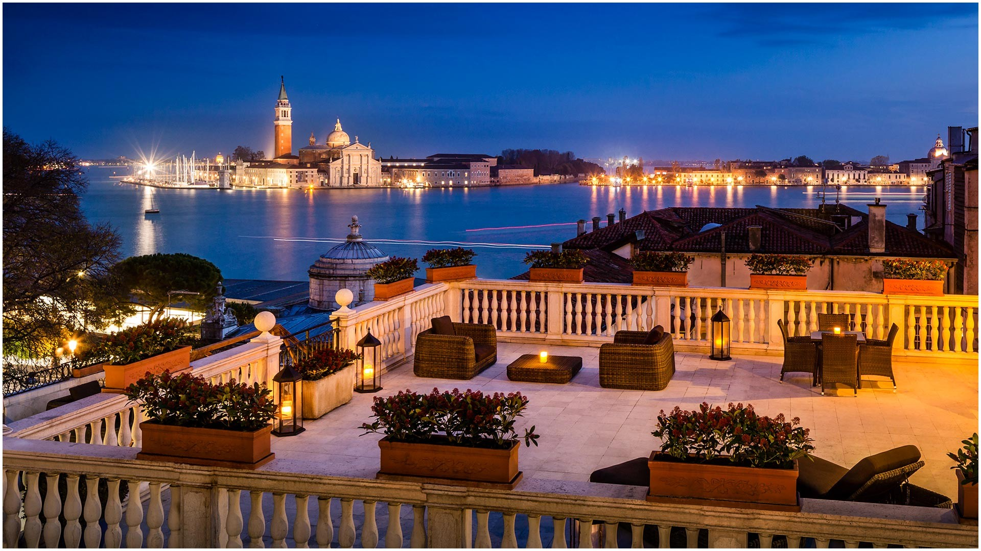 San Giorgio Terrace breathtaking view in Venice