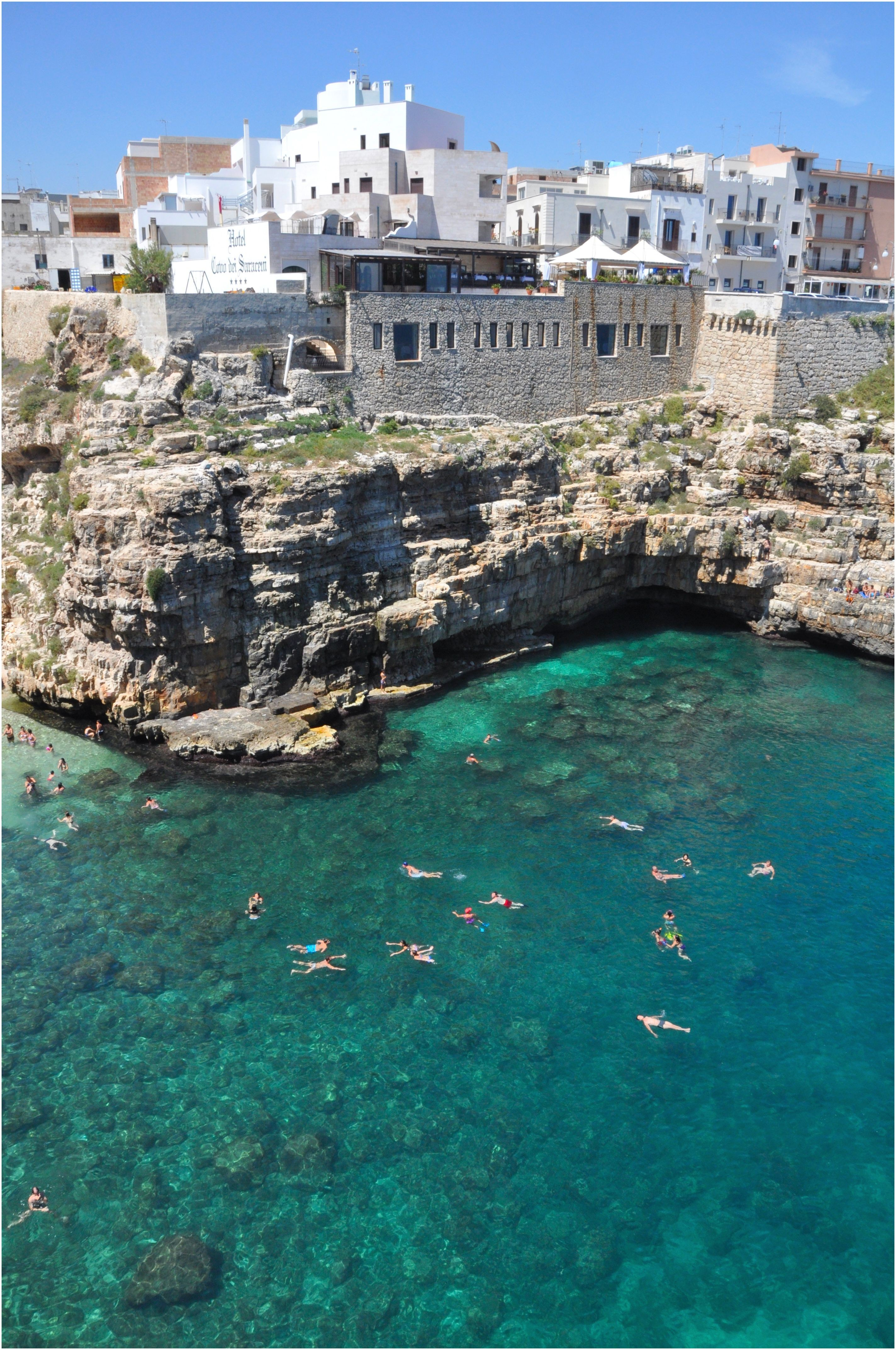 Polignano a Mare and beach puglia Italy