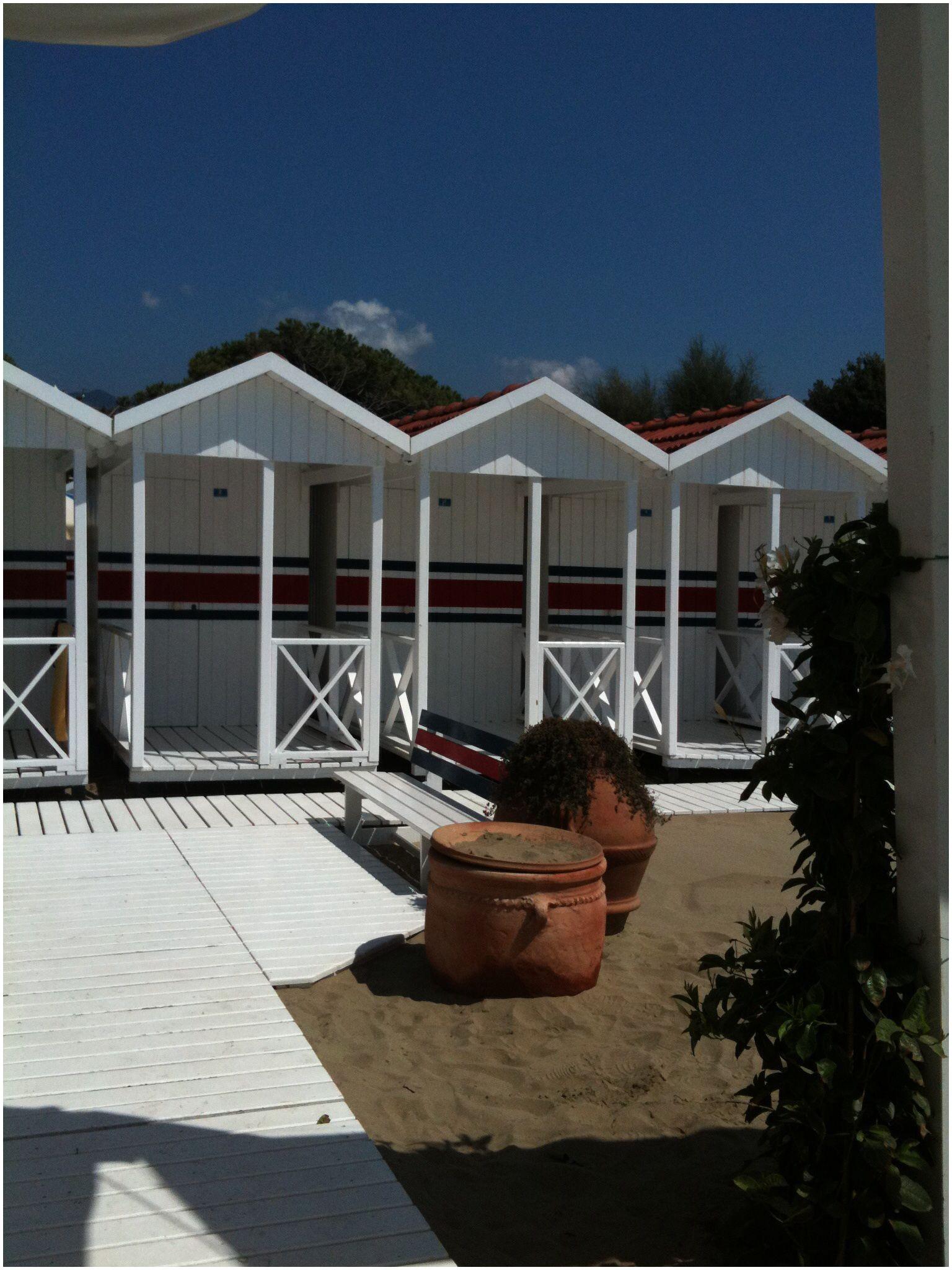 Beach huts in Forte dei Marmi Italy