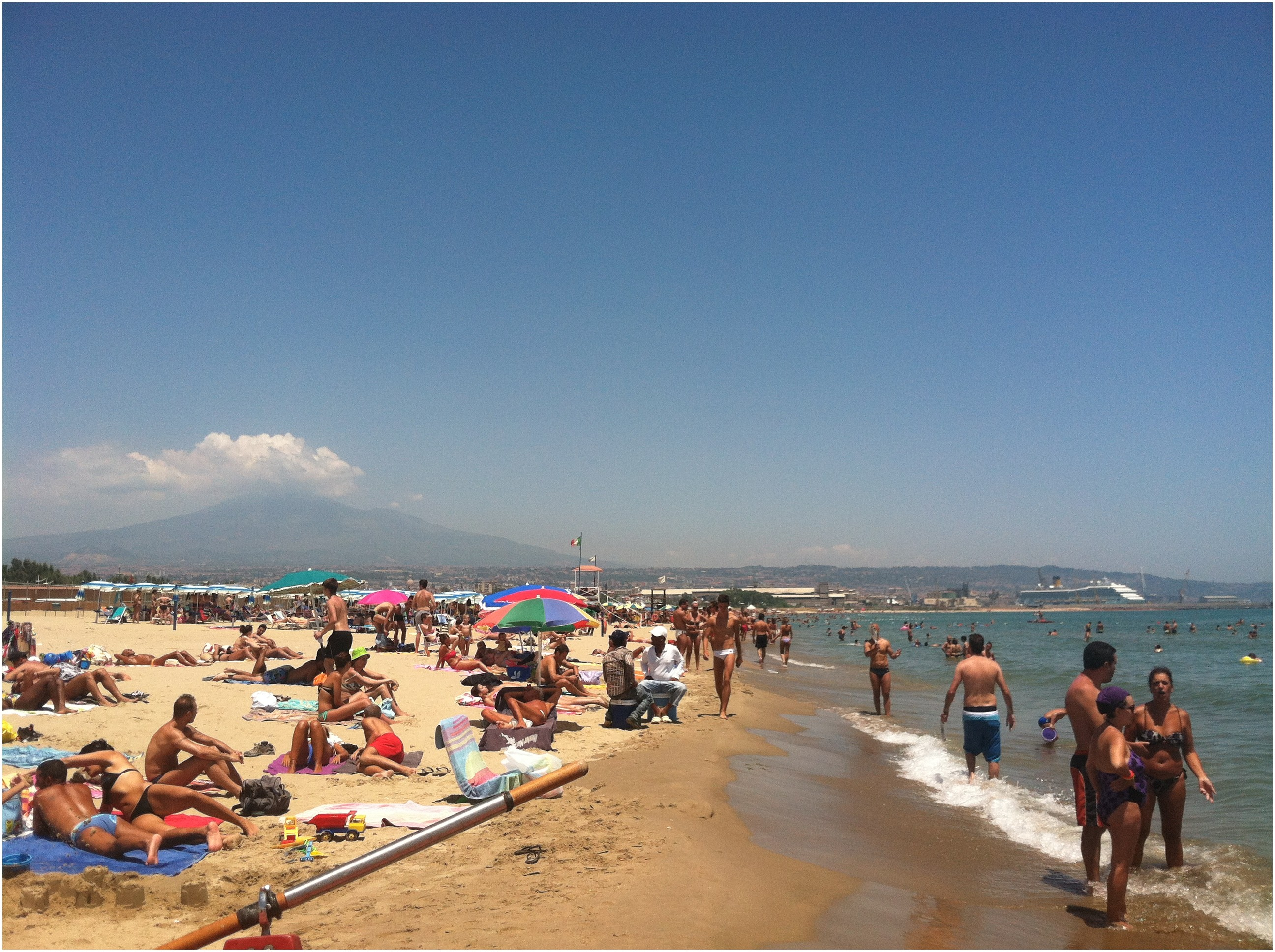 Mount Etna viewed from Catania s beach