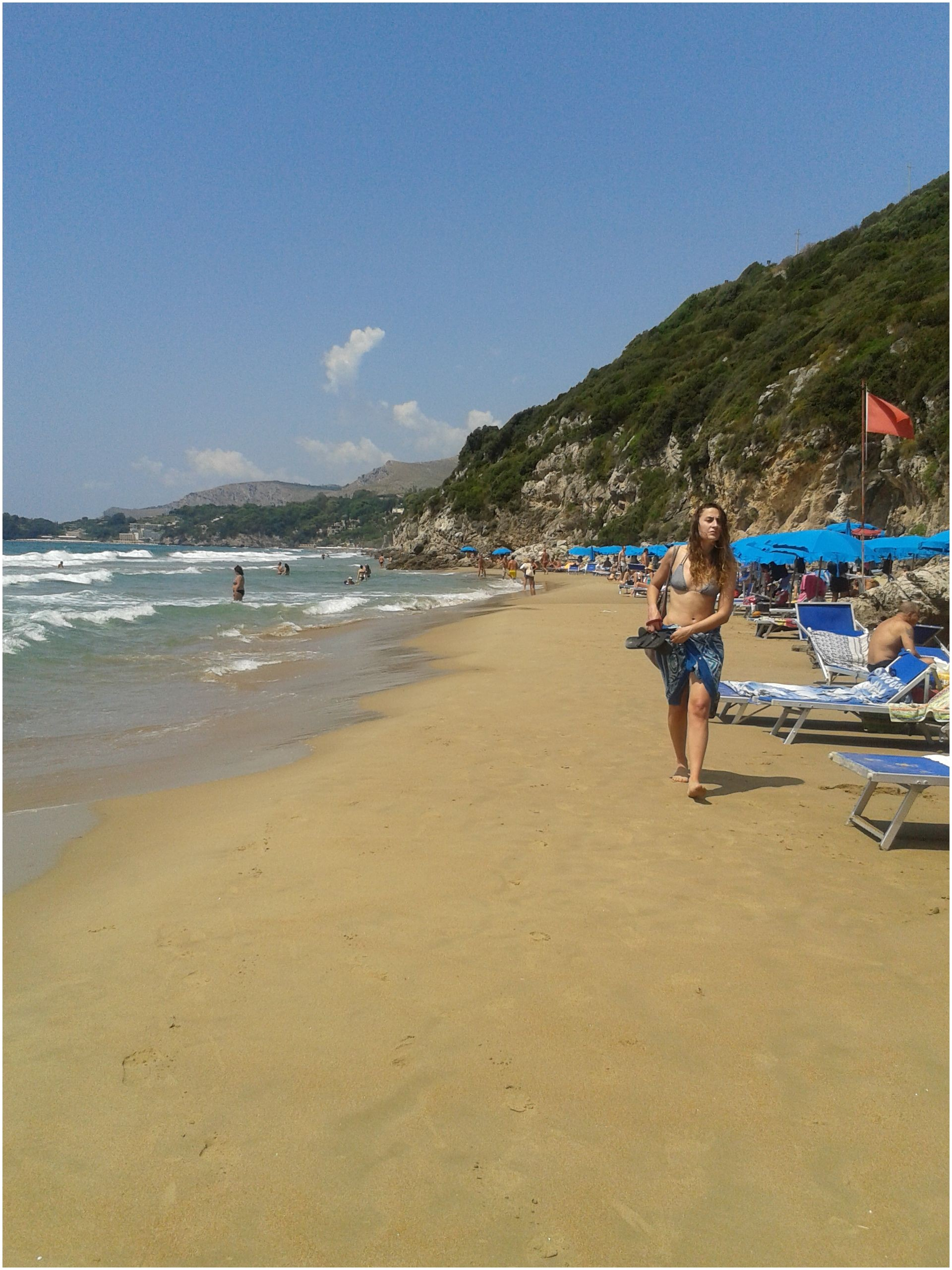 Le Scissure Beach Gaeta Italy spent many days on these beaches