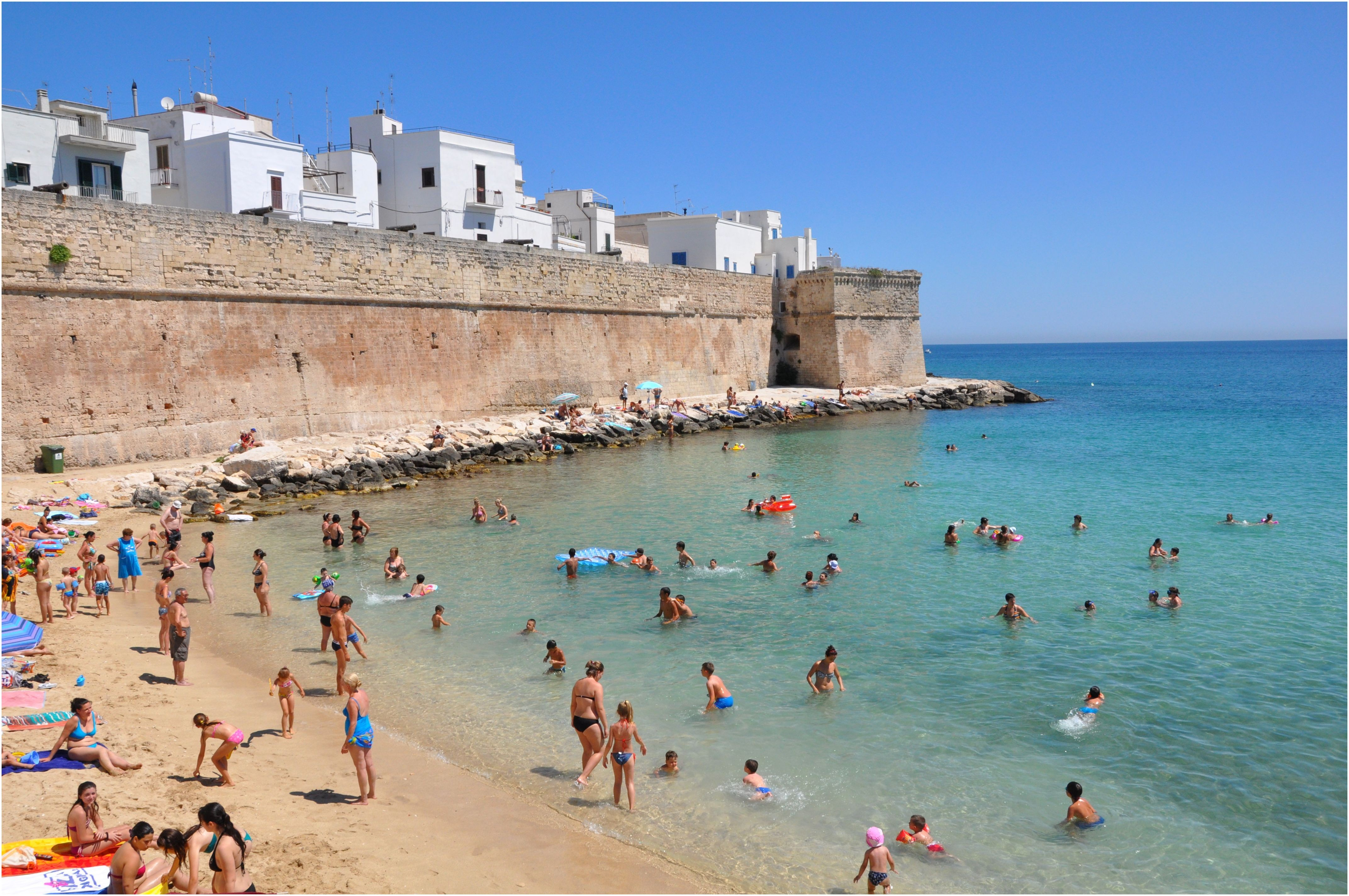 Town beach of Monopoli Puglia