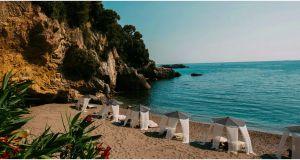 Beach Lerici Italy Elegant Eco Del Mare Luxury Hotel Italian Resort