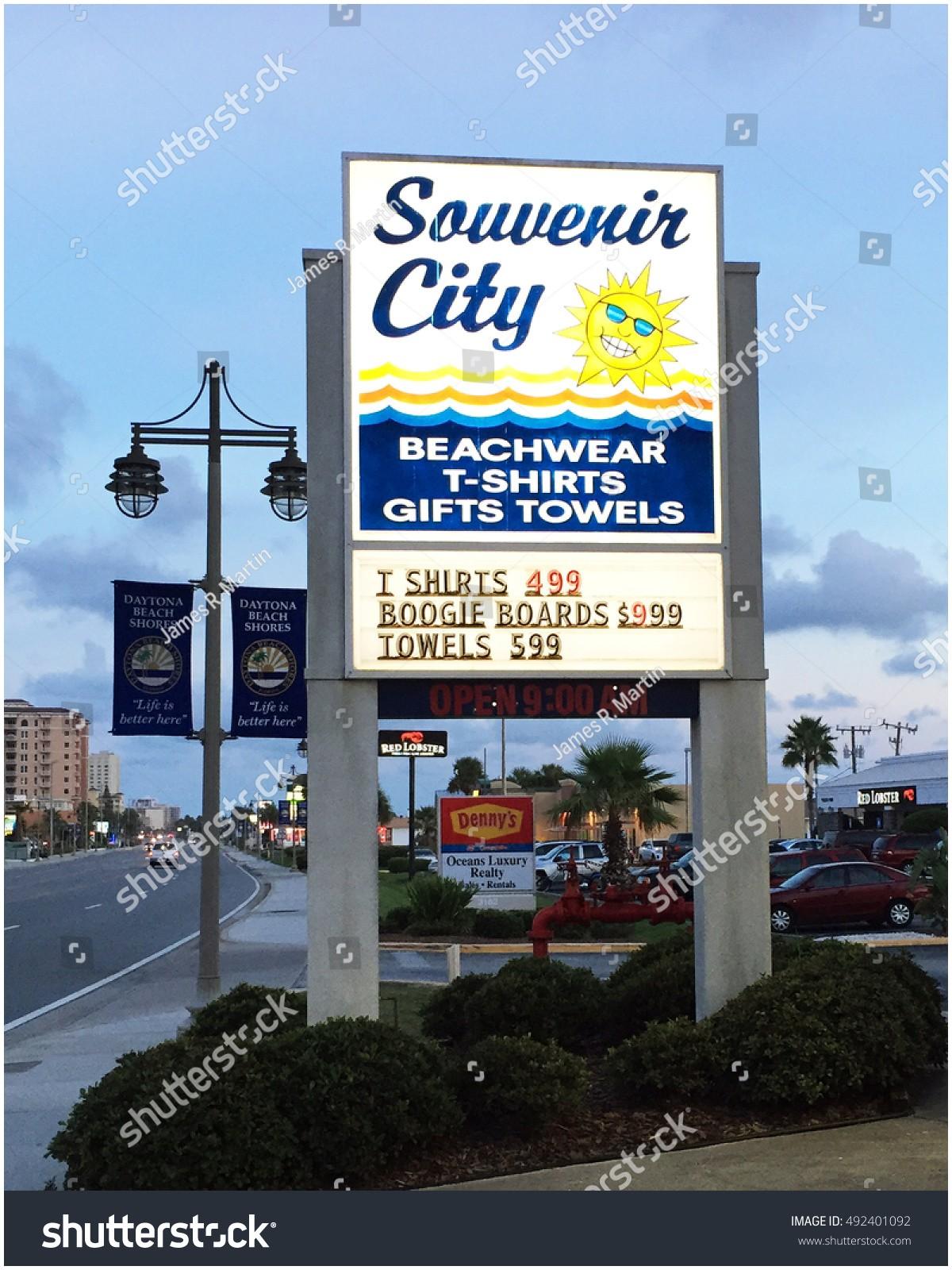 Made In Italy Daytona Beach Luxury Daytona Beach Shoresflseptember 30 2016 Illuminated Stock